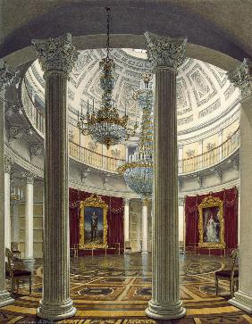 Die Rotunde im Winterpalast in St. Petersburg 1862