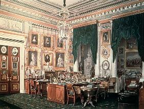 The Study of Alexander III (1845-94) at Gatchina Palace, c.1881