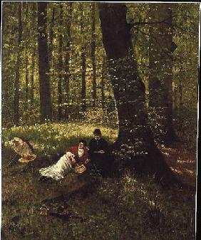 Reading in the Woods