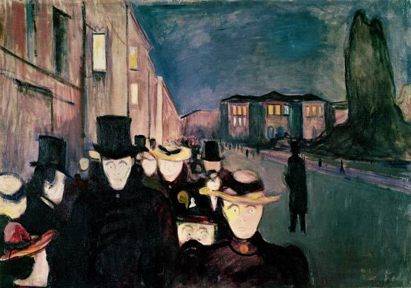 Spring Evening on Karl Johann Street 1892