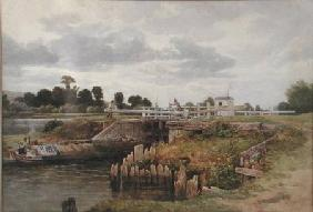 A View on the Thames 1874  on