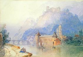 View on the Rhine 1850  on