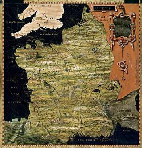 Map of Sixteenth Century France 1576