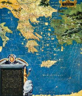 Map of Sixteenth Century Greece 1575