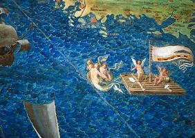 Raft of Cherubs, detail from the 'Galleria delle Carte Geografiche' 1580-83
