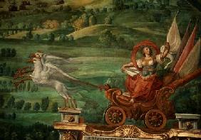 Chariot drawn by griffins, detail from the 'Galleria delle Carte Geografiche' 1580-83