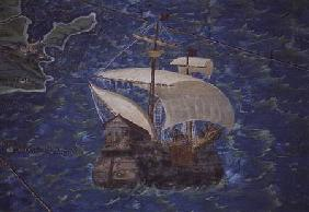 Galleon, detail from the 'Galleria delle Carte Geografiche' 1580-83