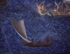 Single Sailed Boat, detail from the 'Galleria delle Carte Geografiche' 1580-83