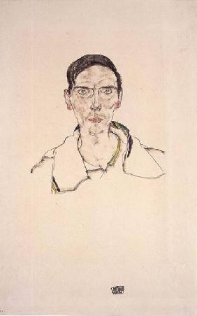 Portrait of a young man wearing sports clothes 1916 cil a