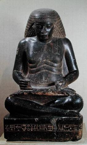 Amenhotep, son of Hapu, seated cross-legged, from the Temple of Amun, Karnak c.1391-53