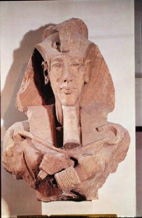 Bust of Amenophis IV (Akhenaten) (c.1364-1347 BC) from the Temple of Amun, Karnak, New Kingdom c.1353-133