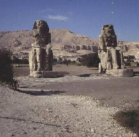 The Colossi of Memnon, statues of Amenhotep III c.1375-135