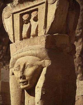 Hathor-headed column, from the Chapel of Hathor, Temple of Hatshepsut, New Kingdom c.1552-129