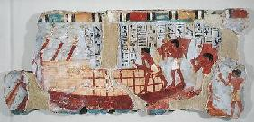 Loading grain, from the Tomb of Unsou, East Thebes, New Kingdom