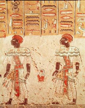 Nubian gods from the Tomb of Ramesses III (c.1184-1153 BC) New Kingdom  c.1184-11