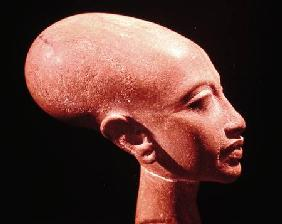Portrait bust of a daughter of King Akhenaten (1353-1337 BC) c.1375 BC