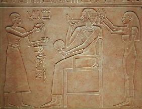 Queen Kawit at her toilet, from the sarcophagus of Queen Kawit, found at Deir el-Bahri, Middle Kingd c.2061-201