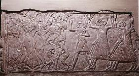 Relief depicting a funeral cortege, from Saqqara