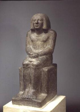 Statue of Ankh, Priest of Horus, Early Dynastic Period