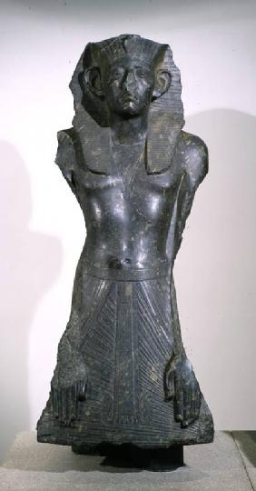 Statue of Sesostris III (1878-1843 BC) in middle age, from Deir el-Bahri, Thebes c.1850 BC