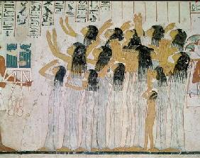 Weeping Women in a Funeral Procession, from the Tomb-Chapel of Ramose, Vizier and Governor of Thebes c.1360 BC