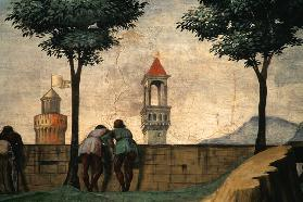 Men Looking over a Wall, from the Visitation
