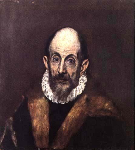 Portrait eines älteren mannes selbstportrait eigentl dominikos