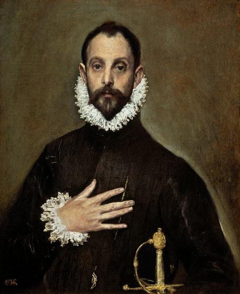 A Nobleman with his Hand on his Chest c.1577-84