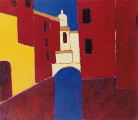 Rio in Cannaregio, Venice, 1999 (acrylic on paper)