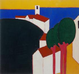 In the Luberon, 2000 (acrylic on canvas)  2000