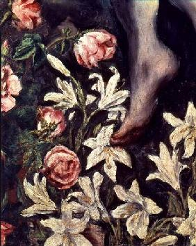 The Assumption of the Virgin, detail of flowers c.1613