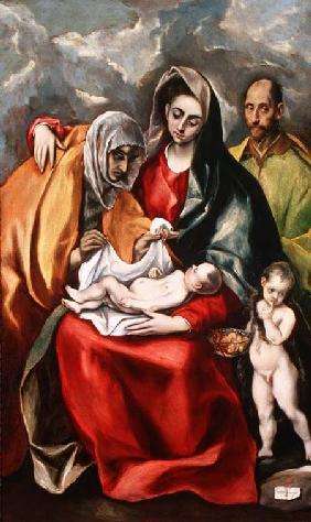 The Holy Family with St.Elizabeth 1580-85