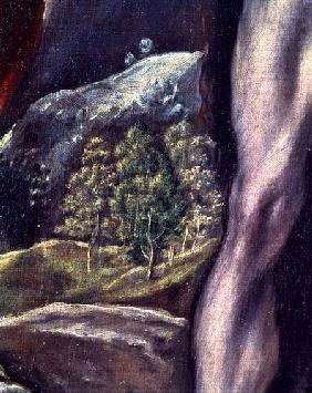 SS. John the Evangelist and John the Baptist, detail of landscape 1605-10