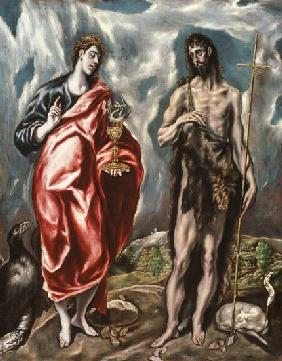 St John the Evangelist and St. John the Baptist 1605-10