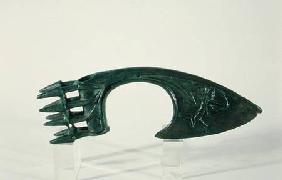 Axe blade depicting an archer, possibly from Lorestan, Iran late 2nd o