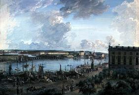 View of Stockholm from the Royal Palace (gouache on canvas) 15th