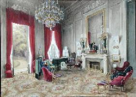 Drawing Room Interior at the Hotel Rainbeaux, Paris 1863  on