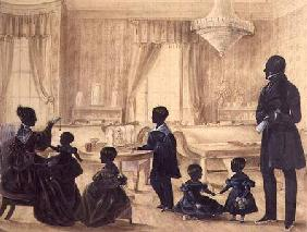 The Burrell Family in their house in Durham c.1820