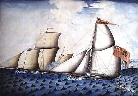 "The Capture of ""The Four Brothers"" by ""The Badger"", Revenue Cutter c.1823"