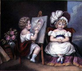 The Child Portraitist c.1825  on