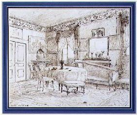 An English Regency salon interior, London 1838  & se
