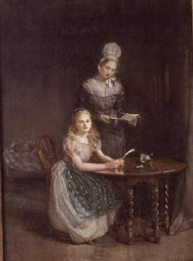 The Governess c.1860  on