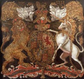 Royal Coat of Arms of William (1650-1702) and Mary (1662-94) c.1690