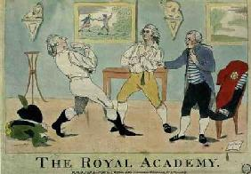 """The Royal Academy"", pub. by S.W. Fores 1786"