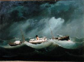 A 'Saville Line' vessel in Rough Weather c.1870