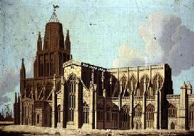 South-East View of St. Mary Redcliffe Church in Bristol c.1800