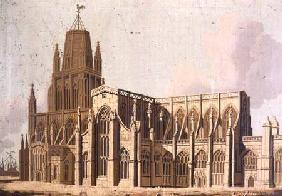 South East View of Redcliffe Church, Bristol c.1840