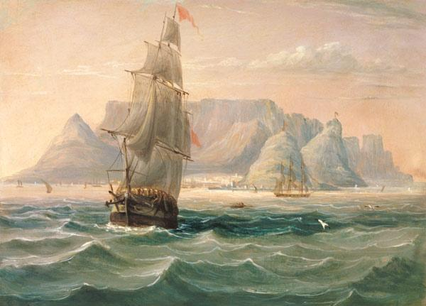 Table Mountain, Cape Town, from the Sea 1820