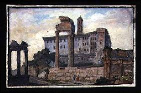 View of the Capitol and the Temples of Castor and Pollux, Rome c.1800