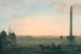 View from the Chowringhee Road, Calcutta, towards the Hoogly River c.1840